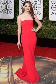 Golden Globes 2016 Red Carpet Fashion | Emmy Rossum