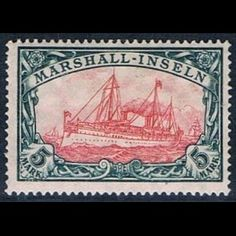 Kaiser's Yacht, year 1916, Marshall Islands / German: Marshall Inseln, #rare-stamps