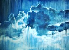 Slip Away by Emmylou  Rain drops can hinder or enhance. Water soluble Oils on canvas. 70 x 100 cm