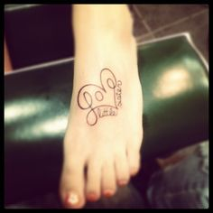 Love this tattoo - would be cute with kids names instead of little sister