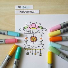 #100daysofdooodles2 #100dayproject #100daysproject #doodle #drawing #markers #hellojuly #inspiration #instaart #рисунок #маркеры #творчество