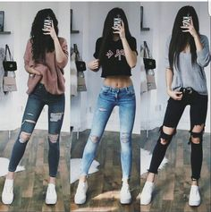 Girls Fashion Clothes, Teen Fashion Outfits, Edgy Outfits, Cute Casual Outfits, Look Fashion, Korean Fashion, Dress Outfits, Girl Outfits, Dresses