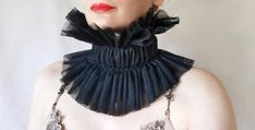 Black Neck, Etsy Jewelry, Handmade Jewelry, Handmade Items, One Size Fits All, Etsy Crafts, What To Wear, Cool Style, Tulle