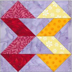 Ribbons Paper Foundation Block  - via @Craftsy