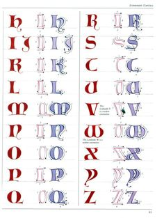 The Art of Calligraphy / Lombardic script