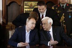 Putin war bereits am Freitag mit Pavlopoulos (r.) zusammengetroffen. Bei den...