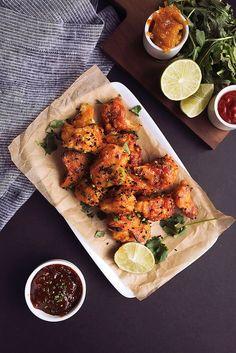 "Spicy Orange Sriracha Cauliflower ""Wings""€ // @tastyyummies // www.tasty-yummies.com"