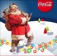 Coke Santa with houses