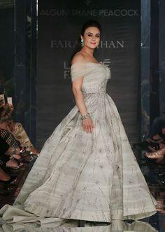 Preity Zinta walks for Falgun and Shane Peacock during LWF 2017