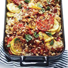 Tomato, Squash, and Red Pepper Gratin Recipe   CookingLight.com
