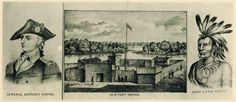 Old Fort Wayne in 1797 by Tom Castaldi John Whistler came to America as a British soldier in the Revolution, under the command of Gener. Old Fort, Three Rivers, Whistler, Indiana, Nativity, British Soldier, Forts, Native Americans, History