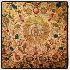 Photo by broderiring.  18th century hungarian embroidery