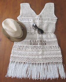 Celeida Ribeiro: Saída de praia em crochet!                                                                                                                                                     Mais