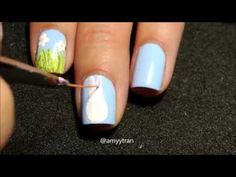 Nail Art Tutorial: Easter Bunny Nails