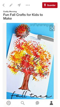 Here are a list of fun fall leaf crafts for kids to make! You will find many autumn and fall art projects that any child Kids Crafts, Tree Crafts, Preschool Crafts, Fall Toddler Crafts, Easy Crafts For Toddlers, Fall Art For Toddlers, Autumn Art Ideas For Kids, Cheap Fall Crafts For Kids, Creative Crafts
