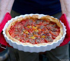 Tomato and mascarpone pie - Modern Tzatziki Sauce, Ricotta, Quiches, Pumpkin Trifle, Canned Blueberries, Vegan Scones, Scones Ingredients, Speed Foods, Gastronomia