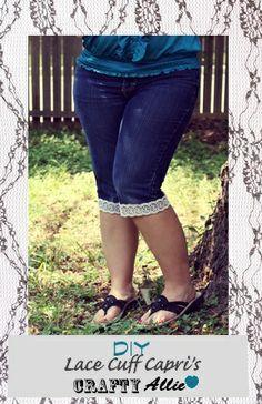 Crafty Allie: Lace Cuff Capri Pants