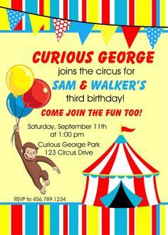 Curious circus invite