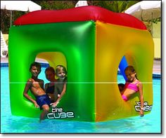 The Fun Cube | Inflatable Floating Swimming Pool Toy- pool fun for kids and adults
