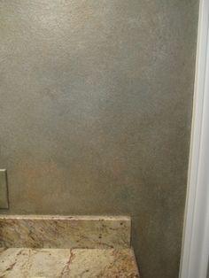 Master Bath Metallic Wall Glazing - Close up