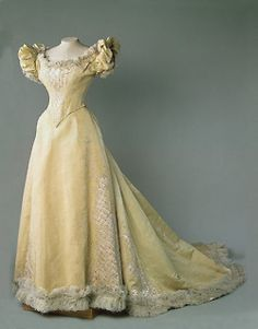 Evening dress, late 19th century  From the State Hermitage Museum