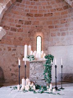 Elegant Provence wedding ceremony decor: http://www.stylemepretty.com/2015/11/13/authentic-provence-wedding-inspiration/   Photography: Le Secret d'Audrey - lesecretdaudrey.com
