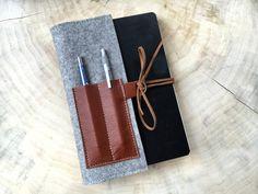 Federmäppchen - Visitenkarte & Stiftehalter für Notizbücher... - ein Designerstück von Chiquita-Jo bei DaWanda