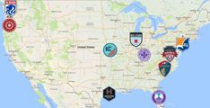 2021 NWSL Map Portland Thorns, Orlando Pride, Soccer League, Team Logo, North America, Maps, Club, Sports, Hs Sports