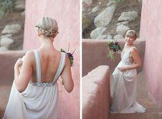 Reba and Volkert – Le Haut Desert Aerie – Pioneertown Wedding - amazing dress and hair