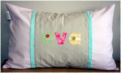 """""""Eva"""" name scatter made by Tula-tu Baby Linen"""