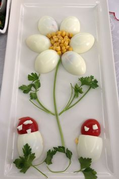 Decorate cold plates for Easter: 18 creative identifiers - Food Carving Ideas Cute Food, Good Food, Yummy Food, Baby Food Recipes, Cooking Recipes, Salad Recipes, Cooking Tips, Chicken Recipes, Creative Food Art