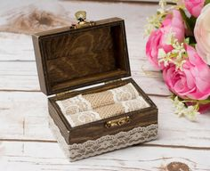 Rustic Wedding Ring Box Personalized Holder Ring Holder Ring Bearer His Hers Country Wedding Ring pillow Wedding List, Wedding Ring Box, The Wedding Date, Wedding Boxes, Wedding Day, Rustic Wedding, Wedding Stuff, Wooden Ring Box, Wooden Rings