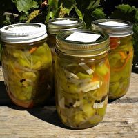 Pop's Pickled Bell Peppers by star Pop S, Dressings, Pickles, Cucumber, Sauces, The Creator, Mason Jars, Appetizers, Stuffed Peppers