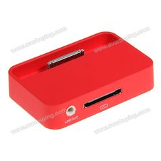 Cheap 3.5mm Line Out Mini Dock Station Cradle Charger for iPhone 4/4S Red | Everbuying.com