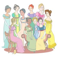 Jane Austen inspired Disney Princesses