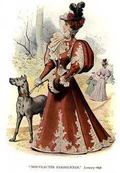 Century Western Costume Belle Epoque - History of Fashion Design 1890s Fashion, Edwardian Fashion, Vintage Fashion, French Fashion, Belle Epoque, Historical Costume, Historical Clothing, Costumes Western, Style Édouardien
