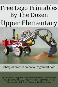 Free Lego Printables for Upper Elementary Homeschool Encouragement
