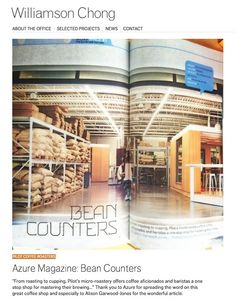 Thanks for the Williamson Chong (Azure Magazine, June Great Coffee, Barista, Coffee Shop, The Selection, June, Magazine, Hot, Coffee Shops, Loft Cafe