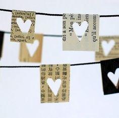 slinger van papieren hartjes