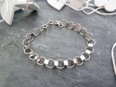 Sterling Silver Caterpillar Bracelet by TripleMoonStar on Etsy, £15.00