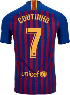 548cd31c7d5 2018 19 Nike FC Barcelona Philippe Coutinho Home Jersey. Buy it from  SoccerPro.