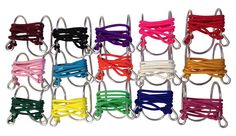 Wine Glass Necklaces with colored Cords Large Variety Pack, Aluminum
