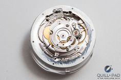 The back of the Ressence Type 3 movement without the automatic winding rotor