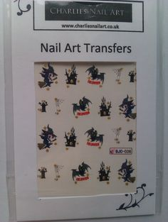 Haunted mansion nail art transfers £1 http://www.charliesnailart.co.uk/haunted-mansion-nail-transfers/