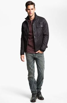 Kane & Unke Jacket, Ezekiel Henley & DIESEL® Straight Leg Jeans   Nordstrom