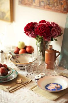lovely table setting Foley and Corinna - Brooklyn Interior Design