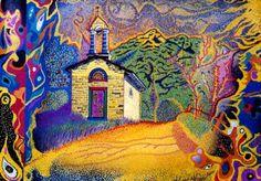 Paesaggio di Larciano Alessio Atzeni Artista olio su tela
