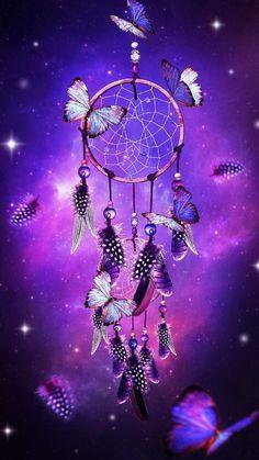 Dream Catcher with butterflies purple fantasy art print wall decor Dreamcatcher Wallpaper, Butterfly Wallpaper, Galaxy Wallpaper, Wallpaper Backgrounds, Dream Catcher Wallpaper Iphone, Wallpaper App, Purple Wallpaper, Purple Backgrounds, Purple Dream Catcher