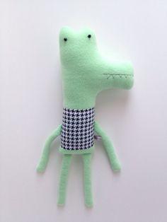 Plush+Mint+Green+Alligator+Friend+Finkelstein's+by+finkelsteins,+$46.00