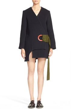 Jacquemus 'Oeillet' Asymmetrical Wool Blend Coat available at #Nordstrom